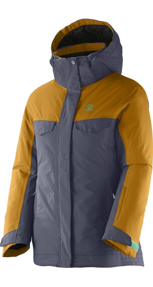 Salomon Girls Sashay JR Jacket Artgrey/Yellowstone